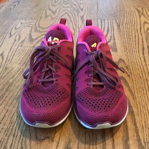 APL purple/pink women's size 9 running shoes.